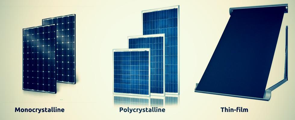 Типи сонячних батарей