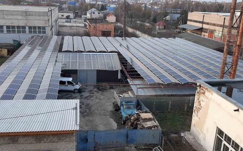 Промислова дахова сонячна електростанція потужністю 254 кВт, м.Тернопіль