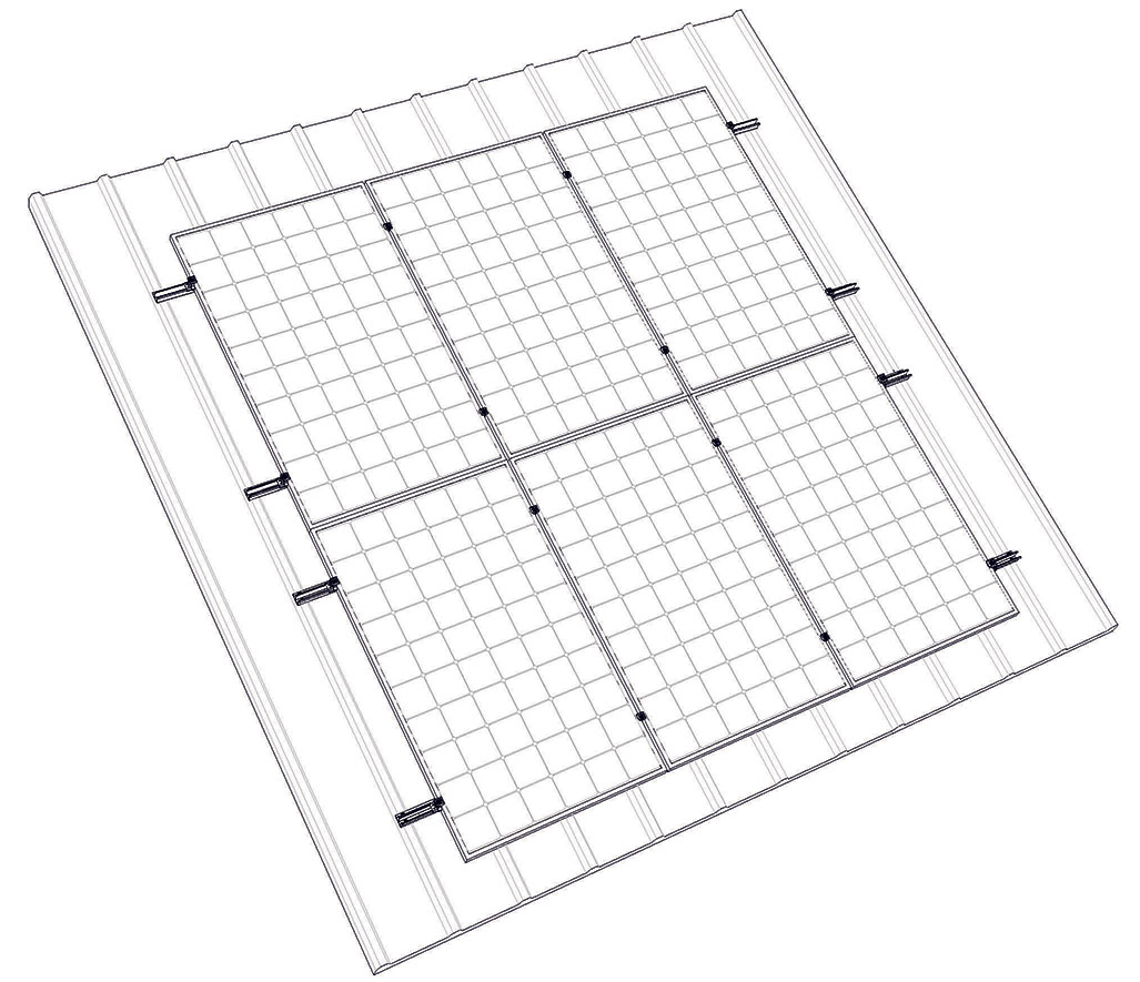 Система кріплення сонячних панелей для похилого даху